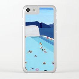 Coastal pool Clear iPhone Case