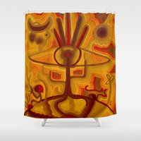 1984 Shower Curtains featuring Together in God's Eye by CrismanArt