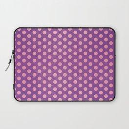Lots of Dots - Geometric Pattern Design (Purple) Laptop Sleeve
