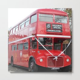 Double Decker Wedding Delight Metal Print