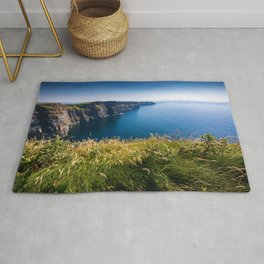Sunny Cliffs of Moher, Ireland Rug