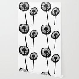 Black Dandelions Wallpaper