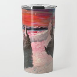 Mountain sunset, Old man of Storr Travel Mug