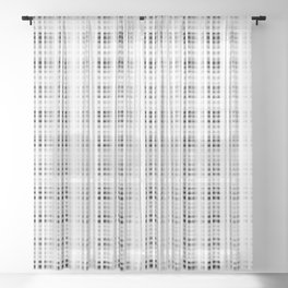 1000 Shades of White Tartan | Colorful Stripes Pattern | Sheer Curtain