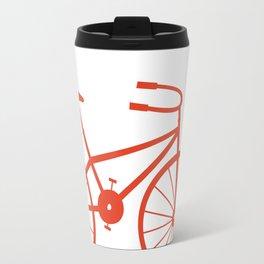 Red Bike by Friztin Travel Mug