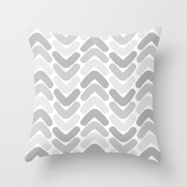 Herringbone chic pattern gray shades Throw Pillow