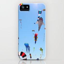 Kites over Lake Michigan iPhone Case