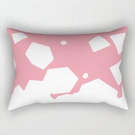 Rockery on Pink Rectangular Pillow
