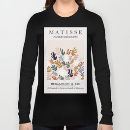 Henri matisse the cut outs contemporary, modern minimal art wintery wall art  Long Sleeve T-shirt