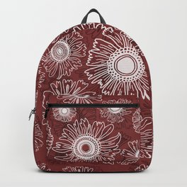 Fall flowers - red Backpack