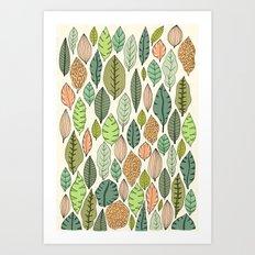 Leaf fall Art Print
