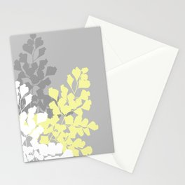 Graphic Shadow Ferns Stationery Cards