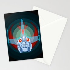 Red leader standing by Stationery Cards