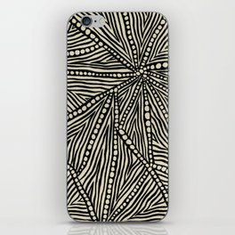Black and Ivory Triangles iPhone Skin