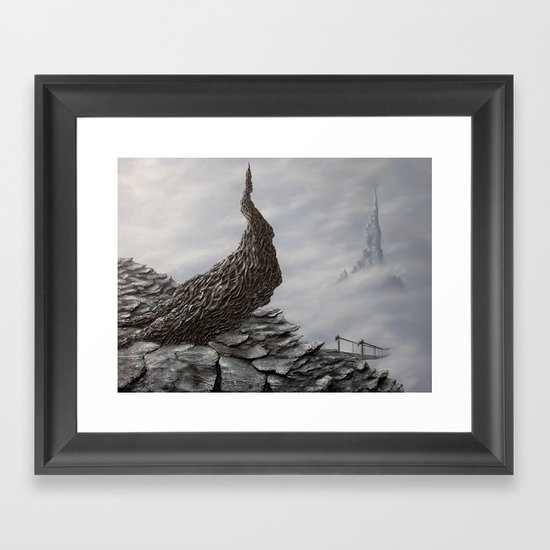 mimicking stones Framed Art Print