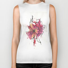 Pink and yellow Flower Explosion  Biker Tank