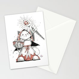 White Mage Munchkin Cat Stationery Cards