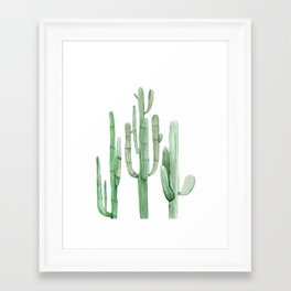 Three Amigos White + Green by Nature Magick Framed Art Print