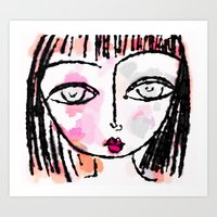 sassy Art Prints featuring Sassy by Rachelle Panagarry