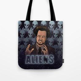 Aliens Guy (Giorgio Tsoukalos) Color Tote Bag