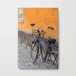 Gamla Stan Bicycle Metal Print