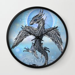 Mystic Bird Dragon Wall Clock