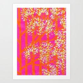 Blush Orange Trees Art Print