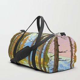 Henmi Takashi Mt. Fuji from Yamanaka Japanese Woodblock Print Vintage Historical Japanese Art Duffle Bag