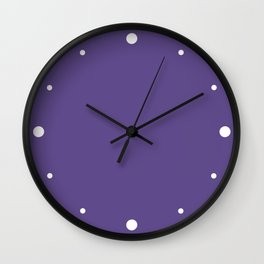 Ultra Violet (Purple) Color Wall Clock