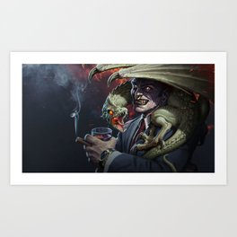 Father Of The Dragon Art Print