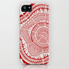Red Tree Rings iPhone Case
