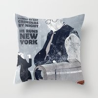 seinfeld Throw Pillows featuring For Seinfeld Fans by Alain Cheung