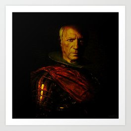 King Picasso Art Print