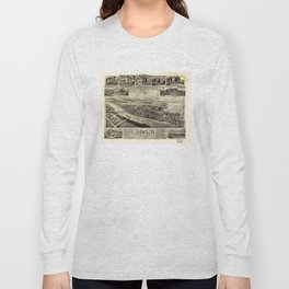 Aerial View of Dawson, Pennsylvania by T.M. Fowler (1902) Long Sleeve T-shirt