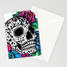Sugar Skull White background Stationery Cards
