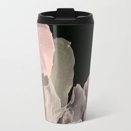 Blush Abstract Roses on Blackground Travel Mug