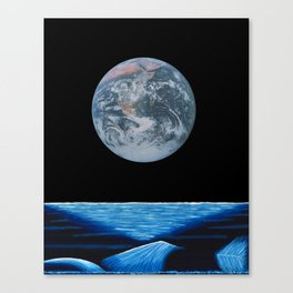 Earth above the ocean 2 Canvas Print