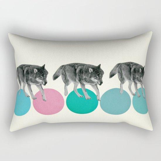 Hungry Wolves Rectangular Pillow