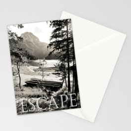 Escape - vintage lake photography  Stationery Cards