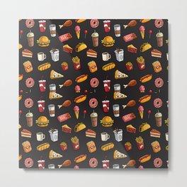 Junk Food Metal Print