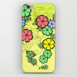Abstract floral ornament iPhone Skin