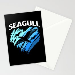 Seagull Colorful Heart Sea Gull Seabird Beach Bird Stationery Cards