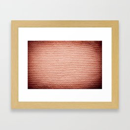 Sepia fuzzy knitted fabric texture abstract Framed Art Print