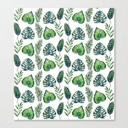 Tropical Ferns Canvas Print