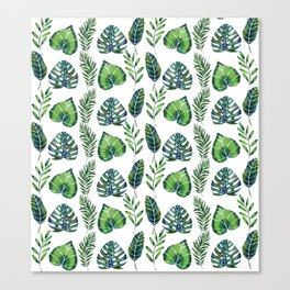 Tropical Ferns Canvas Print