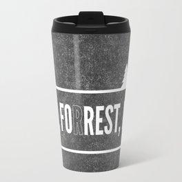 Ru, Fo(r)rest, Run! Travel Mug