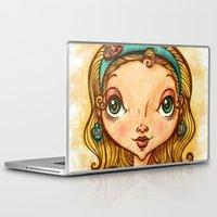 """artsy Laptop & iPad Skins featuring """"Artsy Aura"""" by Alicia Templin"""