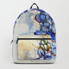 Spring Watercolor Texas Bluebonnet Flowers Backpack