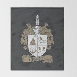 Champion Crest Throw Blanket