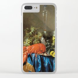 Cornelis De Heem - Still Life With Lobster Clear iPhone Case
